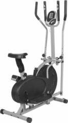 Grijze Gorilla Sports Crosstrainer met verstelbare stoel en hartslagmeting