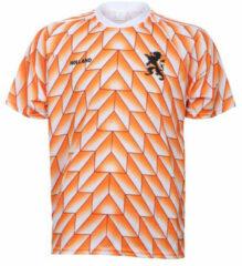 Oranje Merkloos / Sans marque EK 88 Voetbalshirt 1988 Blanco-158 Unisex Junior - Maat 158