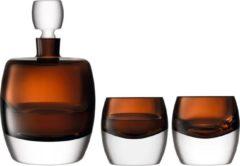 Bruine LSA International L.S.A. Whisky Club Whisky Set - Karaf en Glazen - Glas