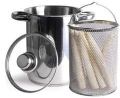 Roestvrijstalen Imperial Kitchen Asperge/ Pastapan - 21x16cm - Incl. deksel
