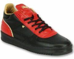 Lage Sneakers Cash Money Mannen Schoenen Sneakers - Luxury Black Red- CMS72 - Rood