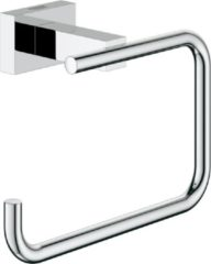 Grohe Essentials Cube closetrolhouder, messing, chroom, (lxhxd) 138x98x60mm
