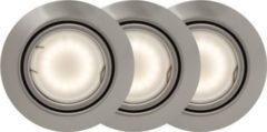 Brilliant Honor LED Einbauleuchten 3x schwenkbar eisen/warmweiß easyDim