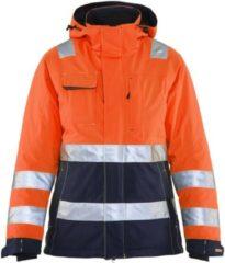 Blåkläder 4872-1987 Dames Winterjas High Vis Oranje/Marineblauw maat S