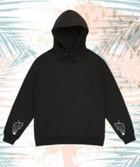 Zwarte Shennit Kpop hoodie mouwen hartjes | Kpopper | Bangtan boys | Army Hartje Centered | Urban style | Korea BTS | Shirt | Boyband | Kleding | Merch | Merchandise Producten Album | Maat XL