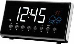 Enzo Denver Wekkerradio met weerstation LED zwart