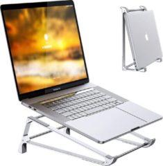 Zilveren Laptop Standaard - Stand - Laptopstandaard - Houder - Opvouwbaar - Lightgewicht - Tablet Houder - Aluminium - Proqit Eaze