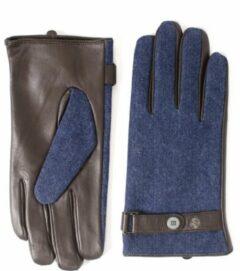 TRESANTI handschoenen - Heren handschoenen - Bruin / blauwe handschoenen - Geleverd in geschenkverpakking