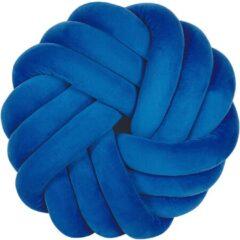Blauwe Beliani Akola Sierkussen Fluweel 15 X 30 Cm