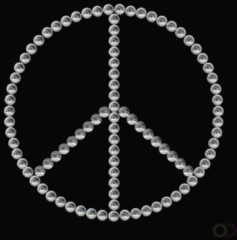 HERMA 15381 Crystal stickers peace