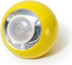 GEV LED Lichtball mit Bewegungsmelder gelb