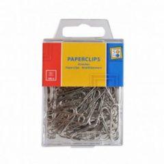 Grijze Merkloos / Sans marque Soho Paperclips 28 X 8 Mm Staal Zilver 100 Stuks