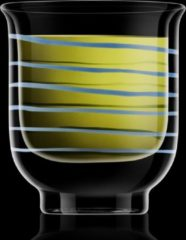 Transparante Bormioli Luigi - Thermic glass drink - 2 Beker Asagao thee blauw