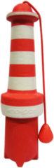 Rogz Lighthouse Floating - Hondenspeelgoed - 25 cm Rood Wit