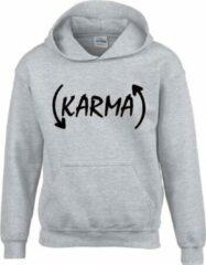 Fruit of the Loom Hoodie sweater | Karma | Ash | Maat 152 (12-13 jaar)