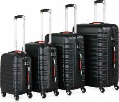 Zwarte Monzana Kofferset van 4 stuks. S/M/L/XL Basislijn