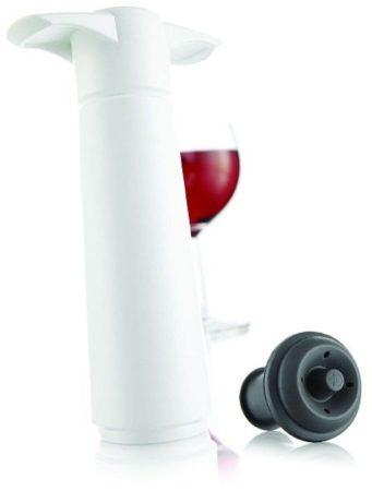 Afbeelding van Zwarte VacuVin Wine Saver White Gift Pack (1 Pump, 2 Wine Stoppers)
