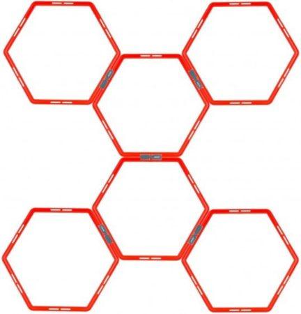 Afbeelding van Avento Trainingsframe Hexagoon 6-delig - Fluororanje/Antraciet