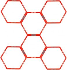 Avento Trainingsframe Hexagoon 6-delig - Fluororanje/Antraciet