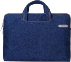 Cartinoe Jeans Series Laptoptas / Sleeve 12 inch Blauw