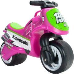 Injusa Loopmotor Kawasaki Meisjes 69 X 27,5 X 49 Cm Roze/groen