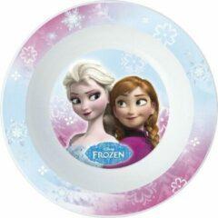 2x stuks disney Frozen thema diepe ontbijt bordjes van 16 cm - Peuter/Kinder borden van kunststof