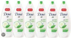 Dove Douchegel Go Fresh Komkommer - 6 x 500ml - Voordeelverpakking