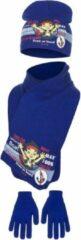 Blauwe Disney Jake Neverland Pirates - Set muts, handschoenen en sjaal Jake - maat 52