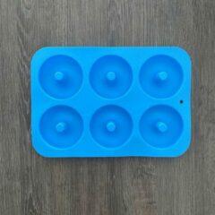 BukkitBow Siliconen Donut Bakvorm / Mal - Zelf donuts maken! - Blauw