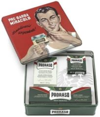 Proraso Tin groen Vintage Scheerset - Scheercrème / Pre-shave crème / Aftershave