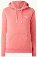 Superdry hoodie Classic Hood met logo roze