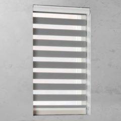 Grijze Pure Living Duo Rolgordijn lichtdoorlatend Grey - 90x175 cm
