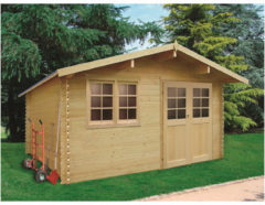 Solid tuinhuis 'Visp' hout 14,37 m²