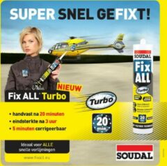 Soudal Fix All Turbo 290ml - 12stuks