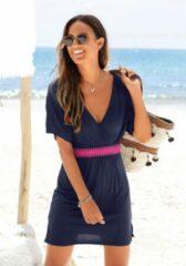 Blauwe LASCANA strandjurk met elastiek in de taille