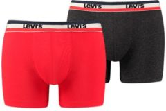 Zwarte Levi's short 2 pack Sprtswr Logo Boxer Brief H 905005001-786