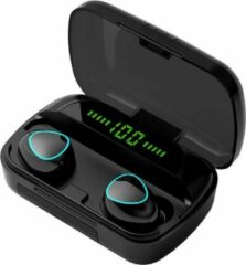Grijze TWS - Draadloze oortjes / in-ear oordopjes - Bluetooth Draadloze buds - Luxe indicator - Geschikt voor alle smartphones o.a Samsung & Iphone, airpods, galaxy buds, huawei, sony - Zwart.- AANBIEDING!