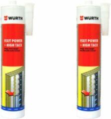 WURTH, CONSTRUCTIELIJM FIXIT POWER + HIGH TACK, ZWART, 620ML, 2-PACK