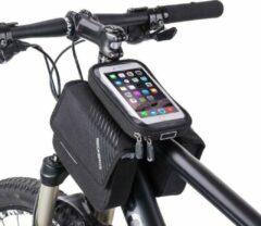 ZWC Frametas fiets - telefoonhouder - dubbele opbergruimte - zwart