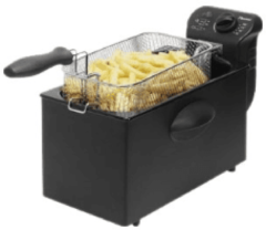 Zwarte Bestron af357b friteuse cool zone frituurpan elektrisch