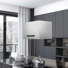 Zilveren VidaXL Afzuigkap hangend met aanraaksensor LCD 55 cm roestvrij staal