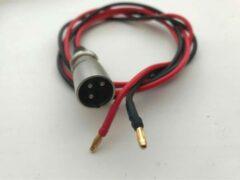 Batterytester testkabel universeel ronde contacten 4mm