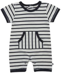 Blauwe Minymo - newborn jongens playsuit - YD stripe - Blue - Maat 74