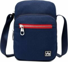 Blauwe YLX travel gear YLX Adonis Crossbody. Navy blue. Recycled Rpet materiaal. Eco-friendly