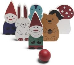 BS Toys kegelset Forest Friends hout 7-delig