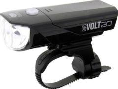 Cateye Koplamp GVOLT20RC HL-EL350G-RC LED (één kleur) werkt op een accu Zwart