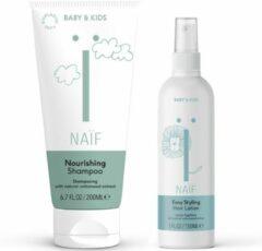 Naif Naïf haar combinatie shampoo & haarlotion - baby & kids - voordeelverpakking - 2 stuks