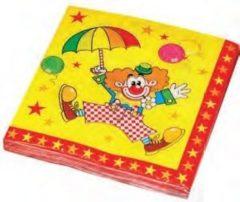 Haza Servetten 33*33cm Clown