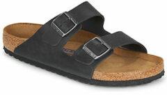 Birkenstock - Arizona FL WB - Sandalen maat 45 - Normal, zwart/beige
