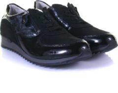Waldlaeufer Waldlaufer 370013 H - Volwassenen Dames sneakersDames veterschoenen - Kleur: Zwart - Maat: 41